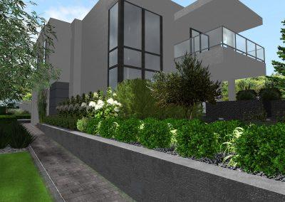 Ogród nowoczesny nad jeziorem 2
