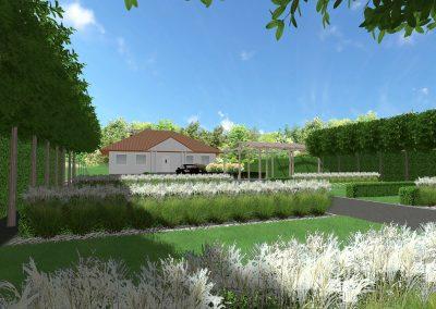 Ogród nowoczesny nad jeziorem 3