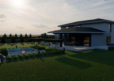 Ogród nowoczesny przydomowy 3